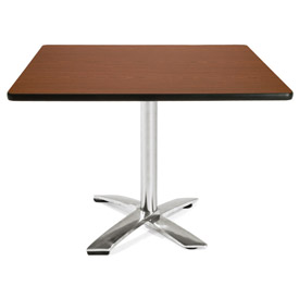 "OFM 42"" Lunchroom Table - Square - Flip Top - Mahogany"