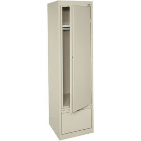 Sandusky System Series Wardrobe Storage Cabinet HAWF171864 Single Door - 17x18x64, Sand