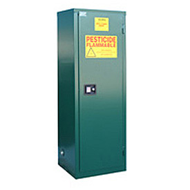 "Global™ Pesticide Storage Cabinet - Manual Close Single Door 24 Gallon - 23""W x 18""D x 65""H"