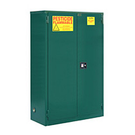 "Global™ Pesticide Storage Cabinet - Self Close Double Door 45 Gallon - 43""W x 18""D x 44""H"