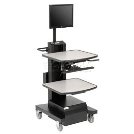 Newcastle Systems NB380 NB Series Mobile Powered Workstation, Small Power Package, 100AH Battery