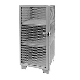 "Global™ Heavy Duty Narrow Storage Cabinet ME224GP - Expanded Mesh Door 24""W x 24""D x 54""H"