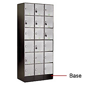 "6"" Black Steel Base For Modular Locker"