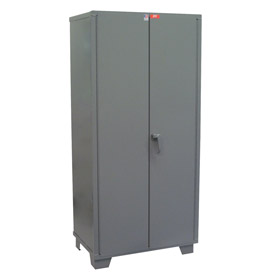 "Global™ Heavy Duty Storage Cabinet DL148-GP - Welded 14 ga. 48""W x 18""D x 78""H, Gray"