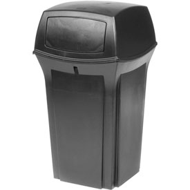 Rubbermaid Ranger® 35 Gallon 2 Door Outdoor Trash Can - Black 8430-88