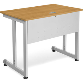 "OFM Training Table 36"" X 24"" Maple & Silver"