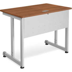"OFM Training Table 36"" X 24"" Cherry & Silver"