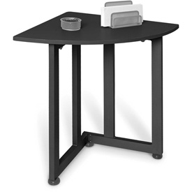 "Corner Table 23"" X 23"" Graphite/Black"