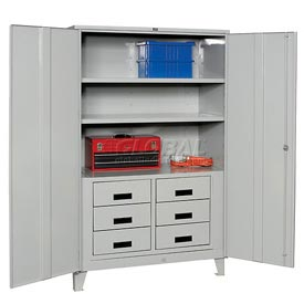 Heavy Duty Storage Cabinet with Drawers  48 x 24 x 78