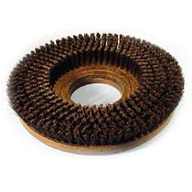 """Powr-Flite 15"""" Poly Shower Feed Brush With Clutch Plate For Carpet"""