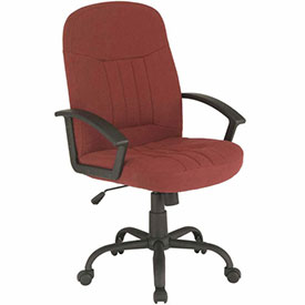 Executive Chair with Arms - Fabric - Mid Back -  Burgundy