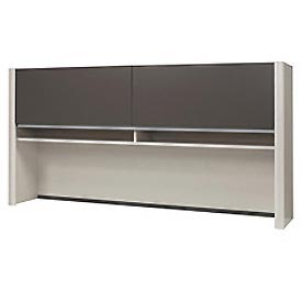 Bestar® Hutch for Credenza - Slate & Sandstone - Connexion Series