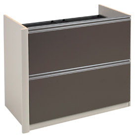"Bestar® Lateral File W/out Top (Unassembled) - 34"" - Slate & Sandstone - Connexion Series"