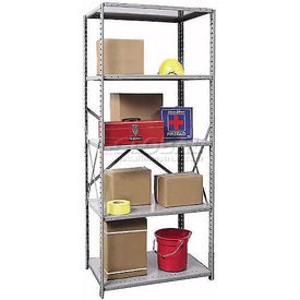 "Hallowell Steel Shelving 22 Ga 36""Wx12""Dx87""H Open Clip 5 Shelf Starter"