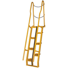 Alternating Stair 7' 12-Step Ladder, 68° Angle - ATS-7-68