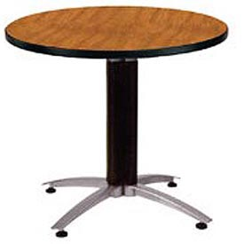 "OFM 36"" Lunchroom Table - Round - Cherry"