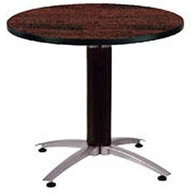 """OFM 36"""" Lunchroom Table - Round - Mahogany"""