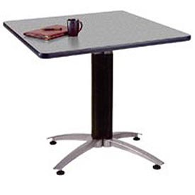 "OFM 42"" Multi-Purpose Square Table with Metal Mesh Base, Gray Nebula"