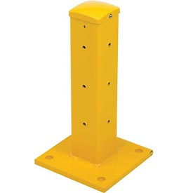 "Traffic Machinery Guard Rail Center/Corner Post 18-13/16""H  Drop-In-Style"