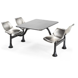 30 x 48 Cluster Stainless Steel Seating Table with 4 Seats