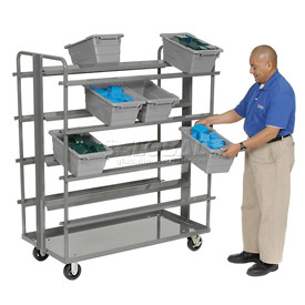 Akro-Mils Double Sided Cross Stack Tub Cart RACR5MR, No Tubs