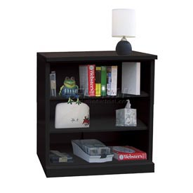 "Steel Bookcase 3 Shelves 34-1/2""W x 13""D x 42""H Easy Assembly Black"