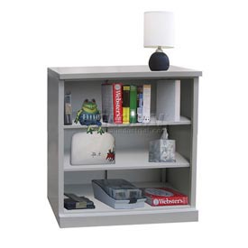 "Steel Bookcase 3 Shelves 34-1/2""W x 13""D x 42""H Easy Assembly Dove Gray"