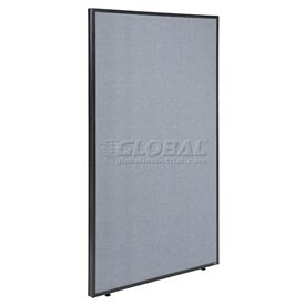 "Interion™ Office Cubicle Partition Panel, 48-1/4""W x 72""H, Blue"