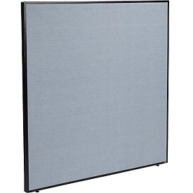 "Office Partition Panel, 60-1/4""W x 60""H, Blue"