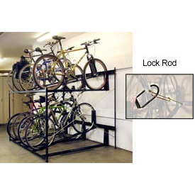 "8-Bike Rack Double Decker, Locking, 54""W X 63""D"