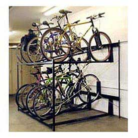 "8-Bike Rack Double Decker, Non-Locking, 72""W X 63""D"