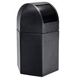 Waste Container with Dome Lid - 45 Gallon Black