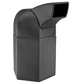 Waste Container with Drive-Through Lid - 45 Gallon Black