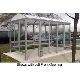 Smoking Shelter Barrel Roof Four Sided With Left & Right Front Opening 15' X 10'
