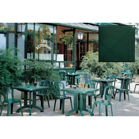 """Grosfillex® 32"""" Square Outdoor Folding Tables Green - Pkg Qty 12"""