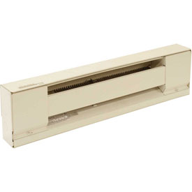TPI Baseboard Convection Heater F2912060SW - 1250W 208V White