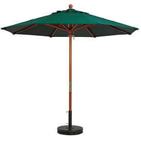 Grosfillex 7' Wooden Market Outdoor Umbrella, Green by