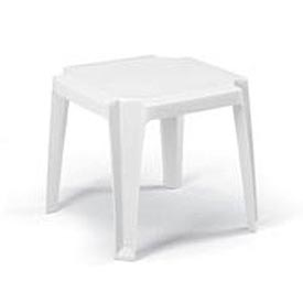 Grosfillex® Stacking Outdoor End Table - White - Pkg Qty 6