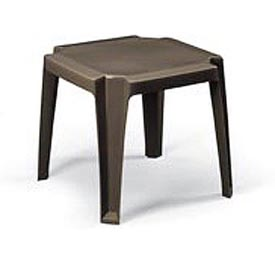 Grosfillex® Stacking Outdoor End Table - Bronze - Pkg Qty 6
