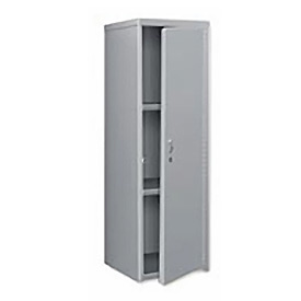 Pucel Heavy Duty Extra Wide Welded Steel Locker Single Tier 24x24x74 1 Door Gray