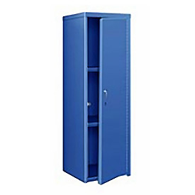 Pucel Heavy Duty Extra Wide Welded Steel Locker Single Tier 24x24x74 1 Door Blue