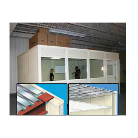 Modular Partition Storage Roof For Four Wall 12' X 24'