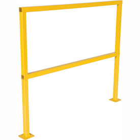 "Square Steel Guard Rail 42""H X 48""L"