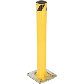Removable Steel Bollard With Removable Rubber Cap 36 X 5-1/2