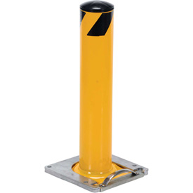 "Removable Steel Bollard With Removable Rubber Cap 42""H x 5-1/2"" Dia. Bollard"