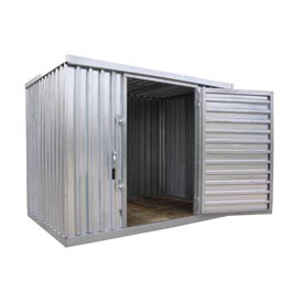 "Galvanized Steel Outdoor Storage Shed 9' 1-1/4""W x 6'5""D x 7'1""H"