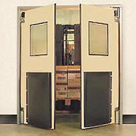 "Aleco® 5'0"" x 7'0"" Twin Panel Heavy Duty Beige Impact Door 435024"