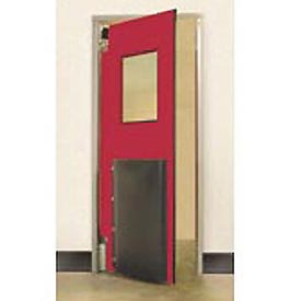 "Aleco® 4'0"" x 8'0"" Single Panel Heavy Duty Red Impact Door 435030"