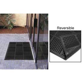 "Outfront Scraper Outdoor Reversible Entrance Mat 7/16"" Thick Black 36x72"