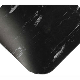 """Antimicrobial Tile Top Antifatigue Mat 7/8"""" Thick 3 Ft Wide Full 60ft Black"""